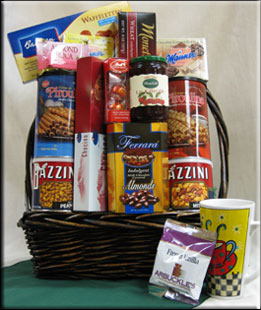 Large Gourmet Basket from Aiellos and North Jersey Gift Baskets!